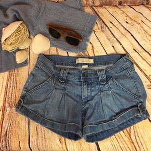 Old Navy Denim Mini Shorts Cuffed Button size 1
